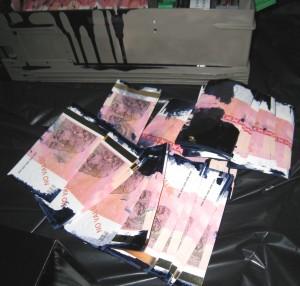 denar obarvan bankomat sintal